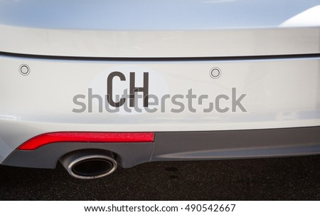 Sticker Swiss on luxury car