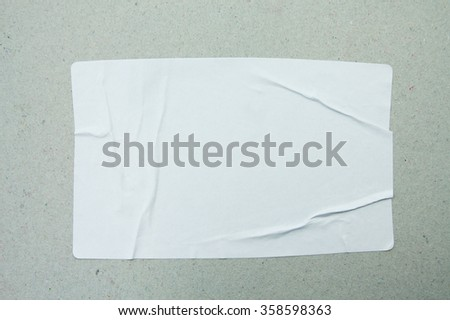 Stickers label close up on gray paper background #358598363