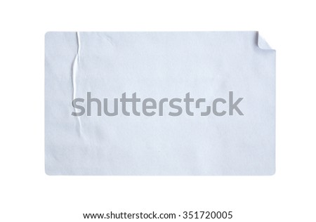 Stickers label isolated on white background #351720005