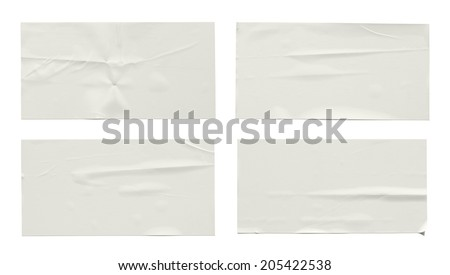 Stickers label (with clipping path) isolated on white background #205422538
