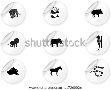 Stickers with animal icons 3