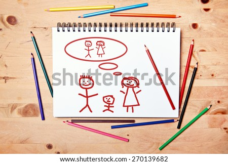 stickman background - drawing block - time without child #270139682
