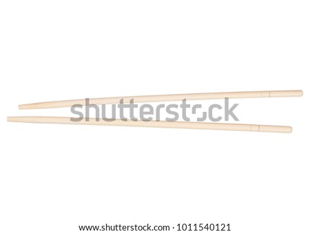 Sticks for sushi on white background isolation, top view