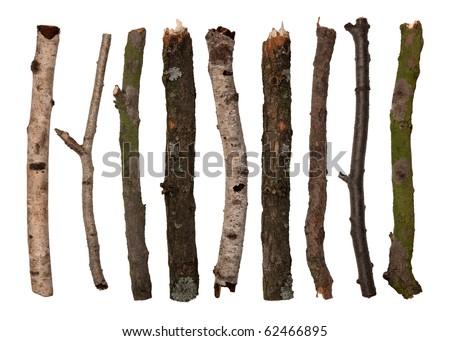 Sticks isolated on white