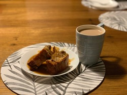 Sticky Date Pudding with Tea