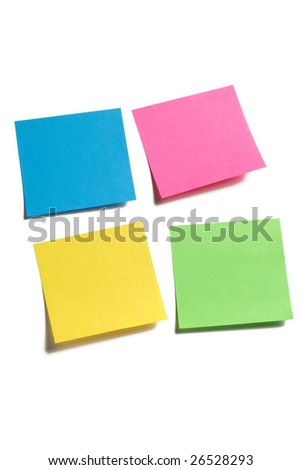 Sticky memo notes of different colors