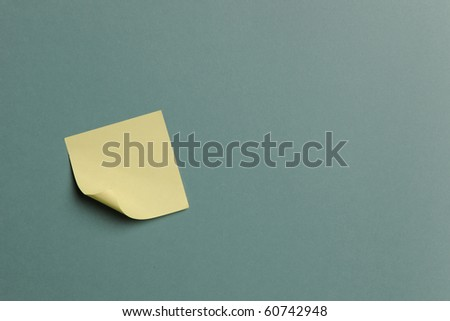 Sticky Note isolated on a green background