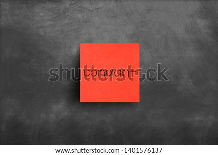 Sticky note on blackboard, Complaint #1401576137