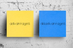 Sticky note on concrete wall, Advantages Disadvantages