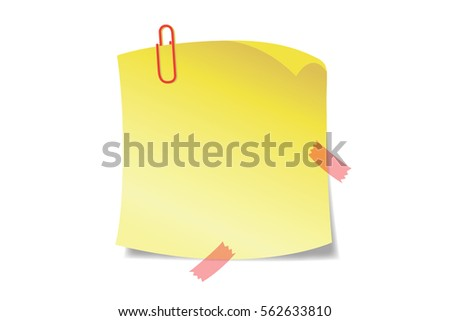 Sticky Notes -yellow sticky notes isolated on white background.