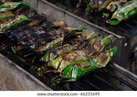 Banana Leaf Wrapped Rice Sticky Rice Wrapped in Banana
