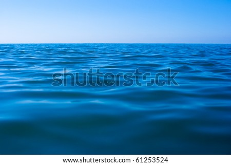 still calm sea water surface #61253524