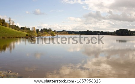 Still lake in remote area