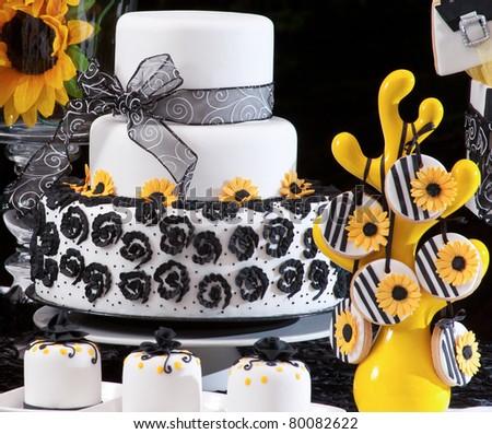 Still life decorated cake