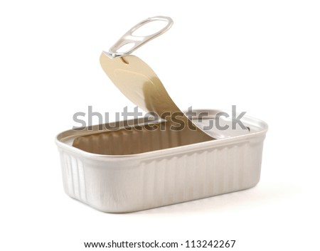 Still life image of an open tin