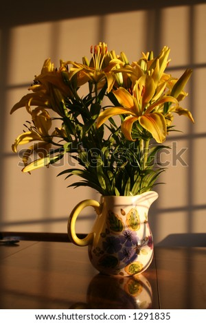 Still Life: Lilies in the evening sun