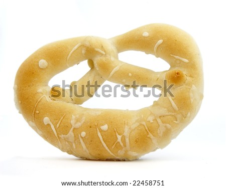 still life of  bread loaf on white background with clipping path