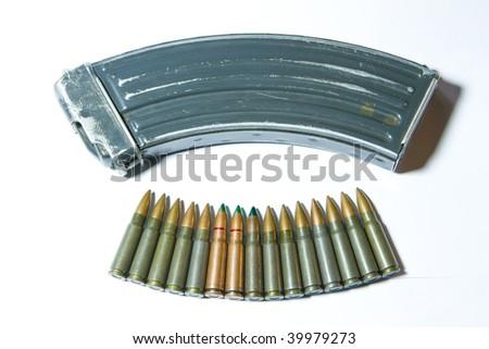 Still-life of cartridge - dangerous of world war