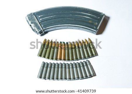 Still-life of cartridge - dangerous of world war