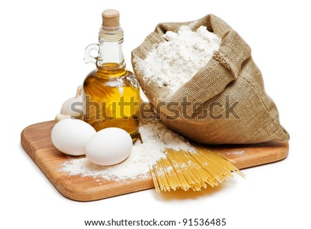 still life of food products