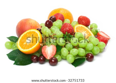 Still-life of fresh fruit