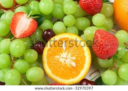 Still-life of fresh fruit - Shutterstock ID 32970397