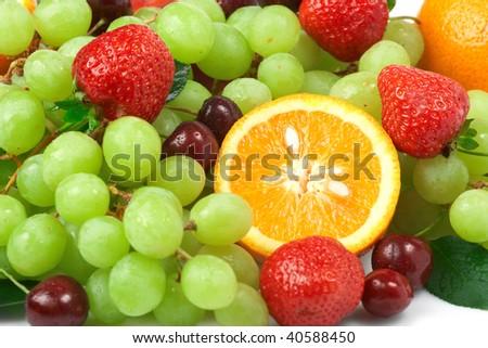 Still-life of fresh fruit - Shutterstock ID 40588450