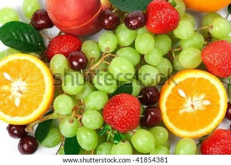 Still-life of fresh fruit - Shutterstock ID 41854381