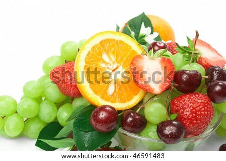 Still-life of fresh fruit - Shutterstock ID 46591483