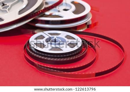 Still life of 8mm cine film  reels