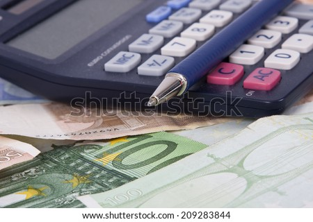 Still life of objects of the economy and finance