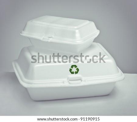 still life of two foams box