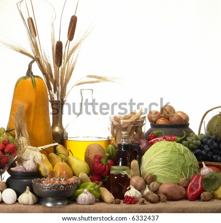 Still-life on a white background