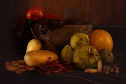 Still life painting mexican food