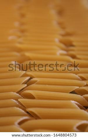 Still life pasta macro focus