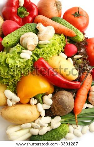 Still life ; Vegetables close - up