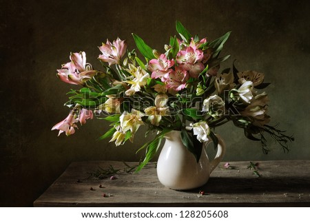 Still life with a beautiful bouquet