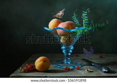 Still life with a butterfly