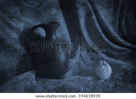 Still life with a jug and Pears in the old Armenian style