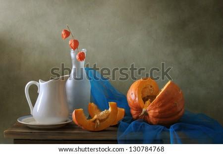 Still life with a pumpkin