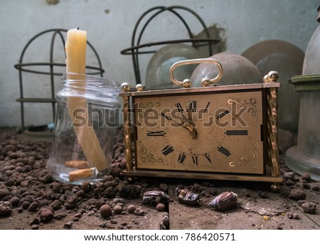 Still life with antiques. #786420571