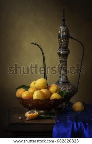 Still life with apricots #682620823