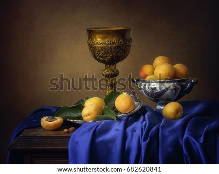 Still life with apricots #682620841