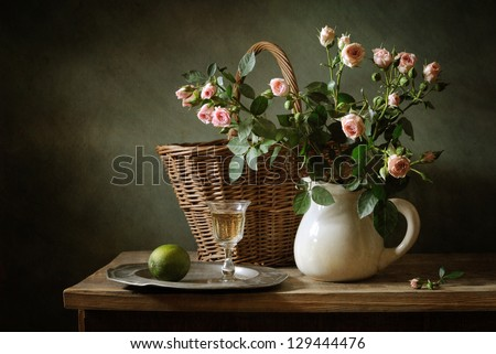 Still life with beautiful roses