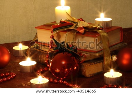Still Life With Candles, Balls and Books