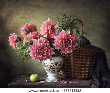 Still life with dahlias #636413582