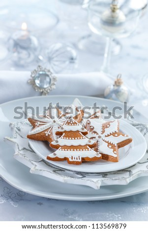 Still life with delicious gingerbread for Christmas