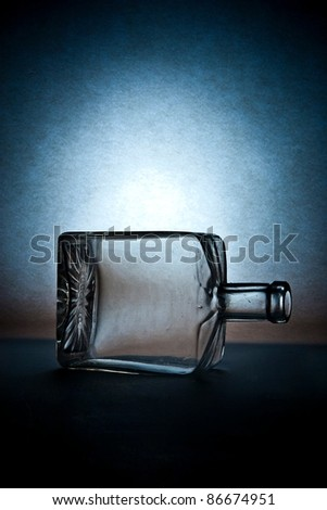 Still life with empty glass, studio shot