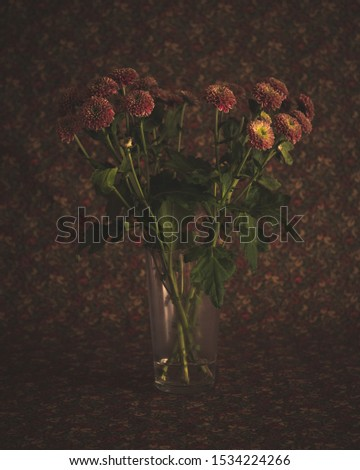 Still life with flowers background