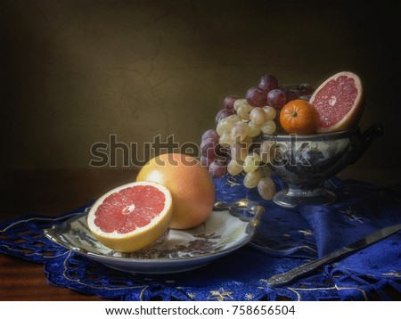 Still life with grapefruits #758656504